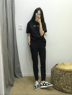 Love these casual korean fashion 9270 Source by Outfits korean Daily Fashion, K Fashion, Ulzzang Fashion, Korea Fashion, Asian Fashion, Fashion Outfits, Boyish Fashion, Fashion Ideas, Ulzzang Style