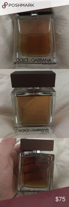 Dolce and Gabbana The One Men's Cologne Dolce Gabbana The One Men's Cologne. Eau de Toilette full bottle. 3.3 oz. never used! Dolce & Gabbana Other