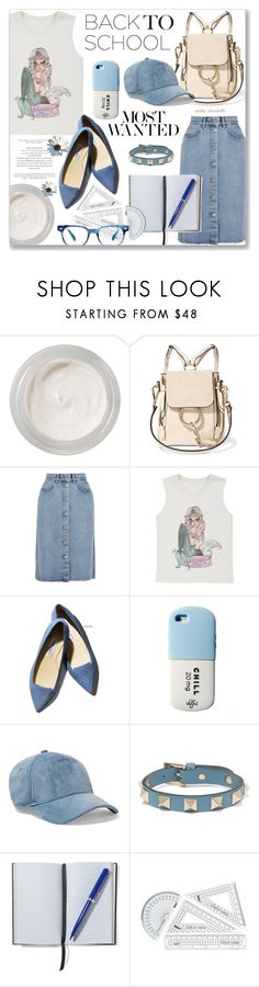 """Go Back-to-School Shopping: 10/08/17"" by pinky-chocolatte ❤ liked on Polyvore featuring Chantecaille, Chloé, M.i.h Jeans, Valfré, Gianvito Rossi, rag & bone, Valentino and Smythson"