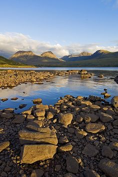 Ben Mor Coigach Across Loch Lurgainn. SCOTLAND.
