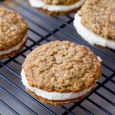 Homemade Little Debbie Oatmeal Creme Pies. - Sallys Baking Addiction Really good but really big!!