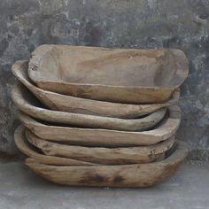 Coupes en bois fruitier Chine Wabi Sabi, Wooden Trough, Deco Nature, Small Wood Projects, Primitive Homes, Dough Bowl, Wooden Kitchen, Wood Bowls, Wood Slices