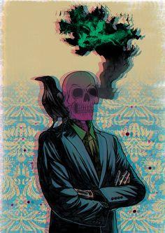 Skull Crow by Ricardo Reis