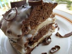 Banana-chocolate cake.