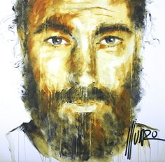 """""""speak a vision of their own heart"""" Men Of Courage, South African Artists, Bearded Men, Portrait, Heart, Face, Painting, Headshot Photography, Men Portrait"""
