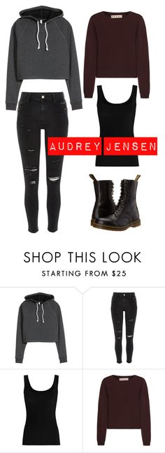 """""""MTV Scream/ Audrey Jensen"""" by savethetrees ❤ liked on Polyvore featuring River Island, Twenty, Marni and Dr. Martens"""