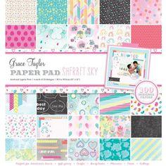 Grace Taylor Sherbert Sky 100 Sheet Paper Pad 12 x 12 £17 from Amazon