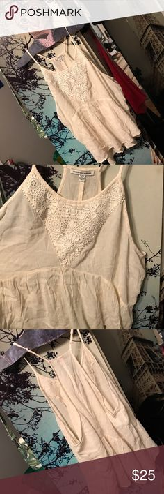 BNWT American Eagle crochet tank top Never worn bnwt make an offer price is negotiable. Creme colored American Eagle Outfitters Tops Tank Tops