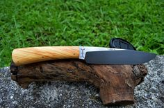 Hunting knife 5160  olive wood #forged #hunting# knife# handmade #olivewood