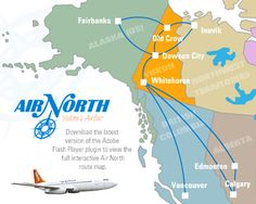 Air North, Aviation Art, Travel Posters, Airplanes, Aircraft, Canada, Vacation, Maps, Planes