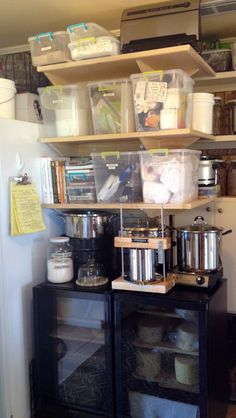 Home cheesemaking supply storage and caves!