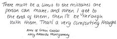 White Paper Quotes - from Anne of Green Gables