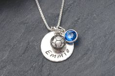 SOCCER PLAYER NECKLACE Soccer Player Gift Personalized by Cheydrea