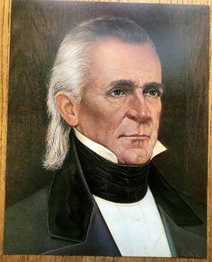 11th President James K. Polk Color Portrait 11 X 14 Published