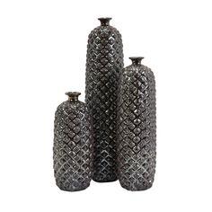 Embossed Ceramic Bottles - Set of 3 | dotandbo.com