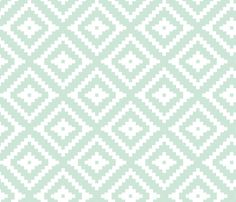 Mint Aztec The Willow Woods Collection Fabric By Littlearrowdesign On Spoonflower Custom