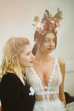 Greece's next top model Eirini Kazarian backstage at Zappeion Greek Tv Show, Next Top Model, Bridal Fashion Week, Fashion Show, Fashion Design, Special Guest, Bridal Collection, Christening, Backstage