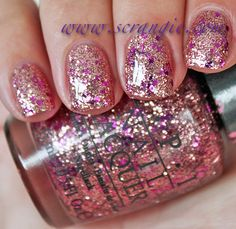 OPI You Glitter Be Good To Me - 2012 Breast Cancer Awareness Collection Swatches and Review