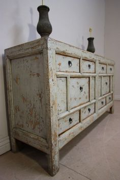Early 19th Century Chinese Elm Antique Dresser