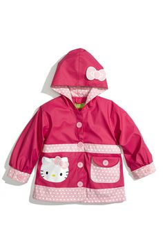toddler girls raincoats pink-light pink