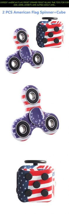 Uspeedy American Flag Fidget Spinner Fidget Killing Time Toys for For ADD, ADHD, Anxiety, and Autism Adult and Children (0 2PCS 1 American Flag) #cube #gadgets #drone #american #flag #plans #kit #camera #products #parts #tech #shopping #fpv #racing #technology #fidget