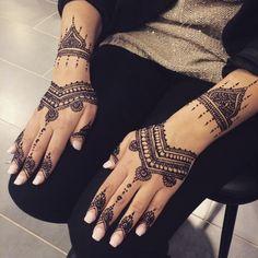Henne Naturel pour Mariée - 2 mains exterieurs • Paradis Du ...
