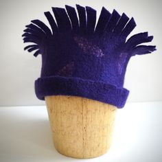 Hand felted Corriedale wool headdress with a touch of silk
