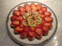 Torta bicolore crema di pistacchi e fragole