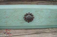 Repurposed Dresser Drawer Fronts with Stencil Embossing - Royal Design Stencils - styled by Designed Decor
