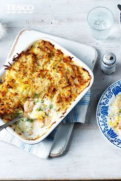 Crammed with succulent fish and seafood with a crisp potato topping, this fish pie recipe is comforting, delicious and healthy, too!