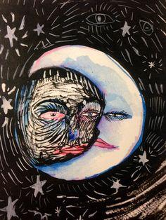 . Old Symbols, Wizard Wand, Digital Ink, Moon Goddess, Carriage House, New Moon, Mark Making, Textile Artists, Fiber Art