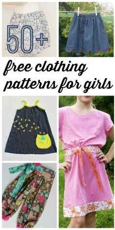 Learn how to make clothes for kids with these free kids clothing patterns. Find 50+ skirt patterns, dress patterns, and more!
