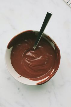 Mmm ... Nutella pudding.