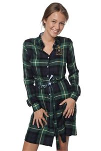 Valecuatro vestido verde tartán