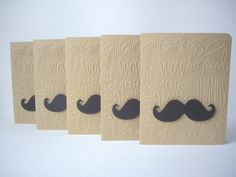 mustache card set thank you mustache cards by JDooreCreations Mustache Cards, Moustache, Making Greeting Cards, Embossed Cards, Baby Shower Cards, Masculine Cards, Hostess Gifts, Stampin Up Cards, Paper Crafting