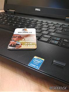 499.00$  4e Génération avec authentification biométrique PRIX SPÉCIAL 499$ Format: Laptop Processeur: i5-4310U n@2.00 Ghz  2.60 Ghz Mémoire vive/Ram :16 GB Disque dur : 500 GBits Ecran:15.4 pouces Graveur DVD, Bluetooth, Webcam Système exploitation/Os : Windows 10 Pro francais Livraison rapide information 514-433-8469 #dell #laptop #reconditionné #mp3000 #montreal Dell Latitude, Windows 10, Bluetooth, Computer Hard Drive