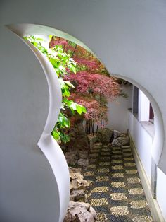 """Lan Su Chinese Garden, Portland OR: """"A true Chinese garden, designed, materials imported from and built by chinese people. There are moon gates, """"foot stone"""" paving (cobbles that traditionally you walk on barefoot to improve circulation in your feet); seasonal plants and a large koi pond."""" #Gardens #Chinese_Garden #Portlad"""