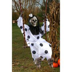"""Outdoor Halloween Decoration 36"""" Swinging Scary Dead Clown Hanging Prop Figure  #FunWorld"""