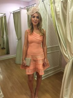 About Me: One shoulder bandage dress has been designed in a summery peach hue, complete with textured panels for that extra effect, With a beautifully flatterin Drop Waist, Stretch Fabric, Hue, Skater Skirt, One Shoulder, Peach, Skirts, Beauty, Collection