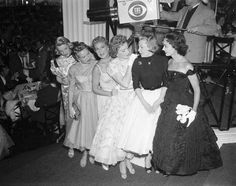 Rosemary Clooney, Betty Grable, Betty Hutton, Deborah Kerr, June Allyson and Ann Blythe 1956