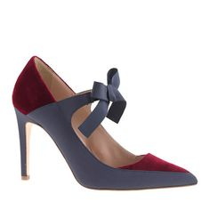 Collection Falsetto velvet bow pumps