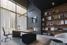 Office on Behance Office Table Design, Modern Office Design, Contemporary Office, Office Interior Design, Office Interiors, Contemporary Bathrooms, Small Space Office, Home Office Space, Home Office Decor