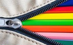 Scarica sfondi fulmine, matite colorate, texture