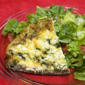 Spinich, Feta and Tarragon Frittata