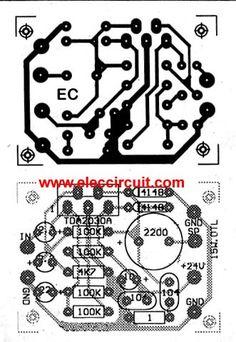 PCB of 15-watt OTL Power Amplifier using TDA2030