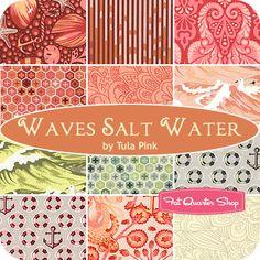Waves Salt Water Fat Quarter Bundle Tula Pink for Free Spirit Fabrics fabric crush~ #FQSgiftguide #giftsforme