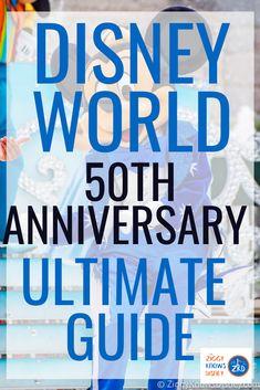 Disney World Anniversary Celebration - Dates, Changes & News Disney World Vacation Planning, Disney World Florida, Disney World Parks, Walt Disney World Vacations, Disney Resorts, Disney Planning, Disney Worlds, Disney Travel, Vacation Ideas