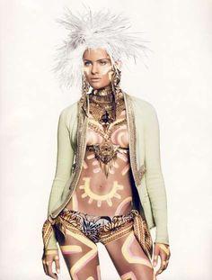 Vogue : Keith Haring / Tribal Fashion