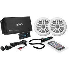 BOSS AUDIO ASK902B.6 Marine Amp with Bluetooth(R) & Marine Speakers Package