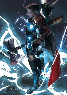 Thor and Rocket Raccoon (Infinity War) Marvel Dc Comics, Odin Marvel, Marvel Avengers, Marvel Fanart, Marvel Heroes, Loki Thor, Loki Laufeyson, Marvel Characters, Marvel Movies